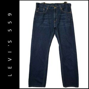 Levis 559 Men Denim Blue Dark Wash Straight Jeans